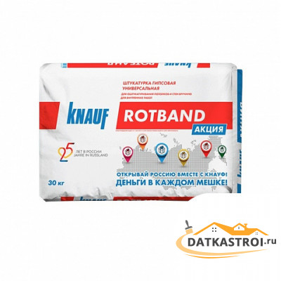 Штукатурка серая гипсовая Knauf Ротбанд 30 кг